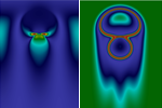 Energy exchange analysis in droplet dynamics via the Navier-Stokes- Cahn-Hilliard model.